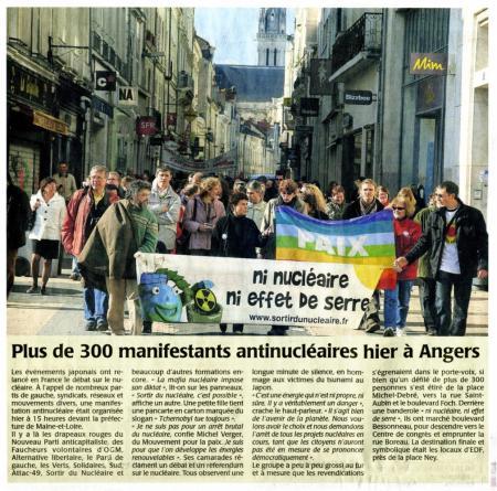 """""""Nous voulons avoir le choix"""", 20/03/2011 Angers 1"""