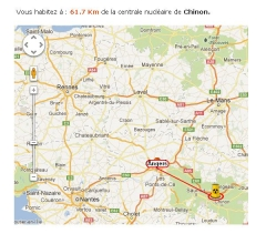 distance angers chinon